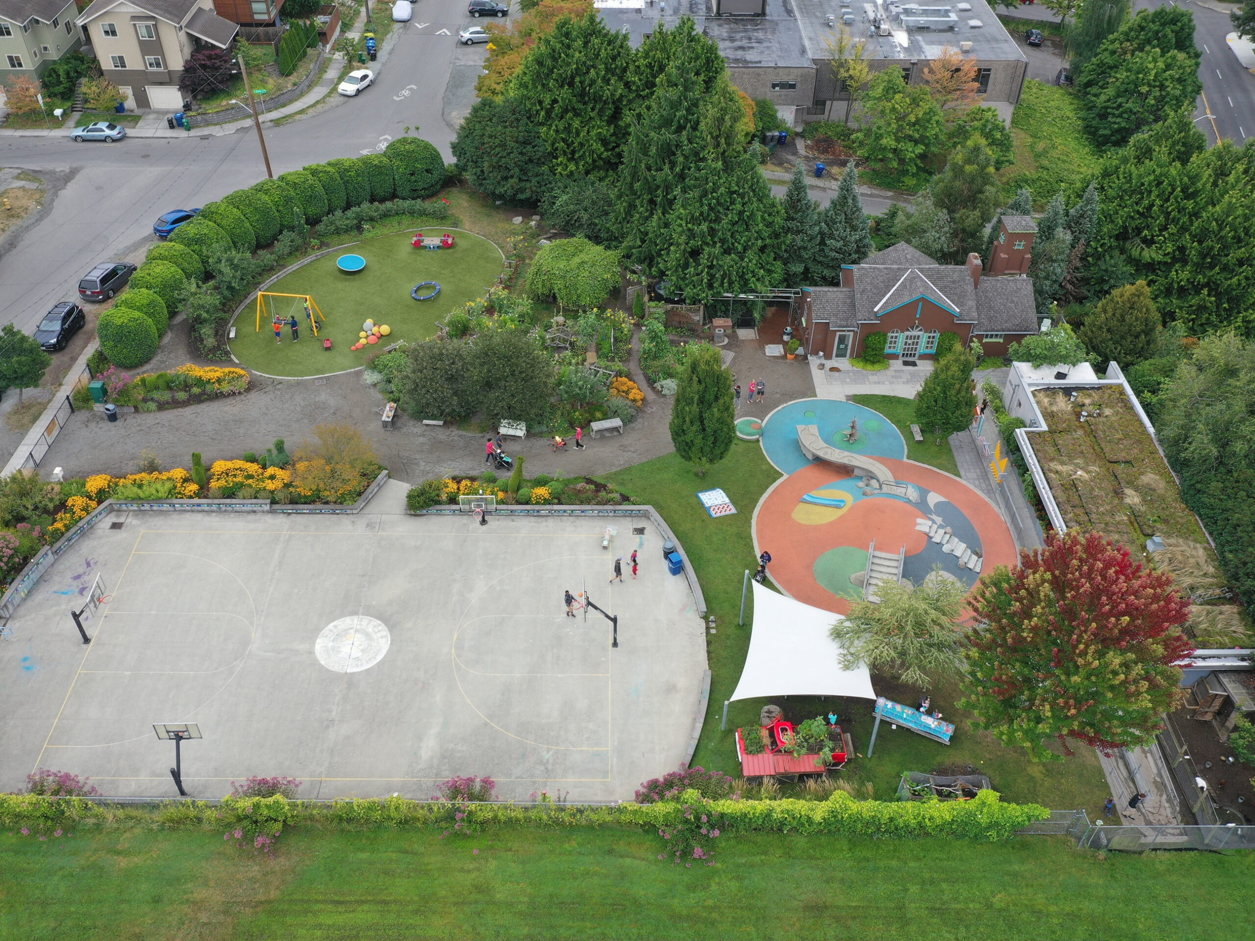 Aerial of the PlayGarden
