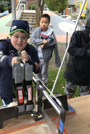 kids working with tools