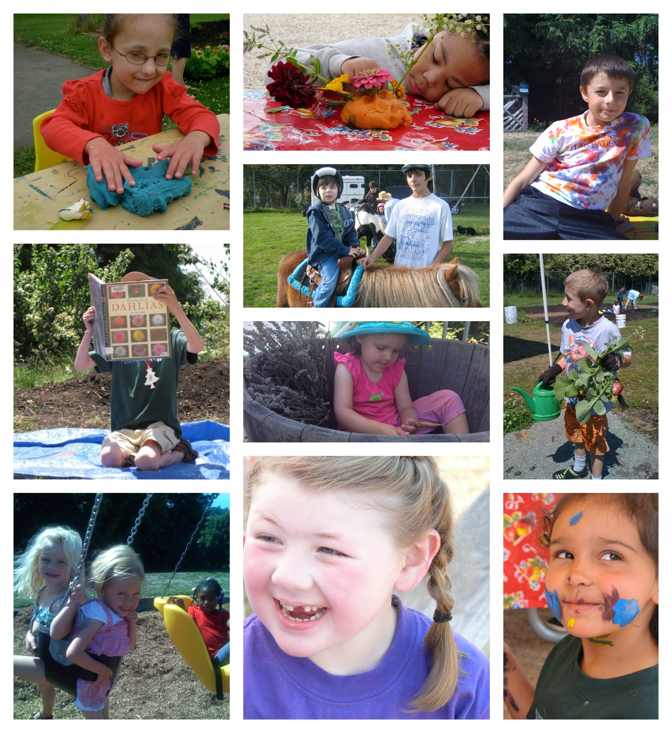 Pictures of PlayGarden kids when they were little