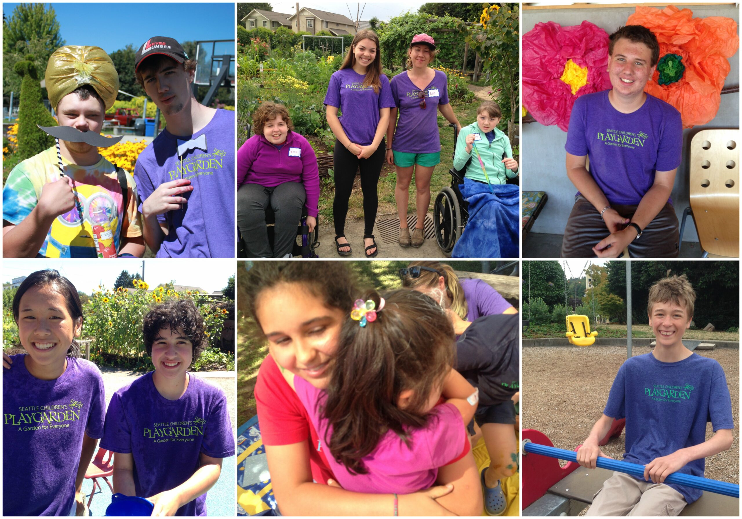 Collage of campers and junior counselors at the PlayGarden